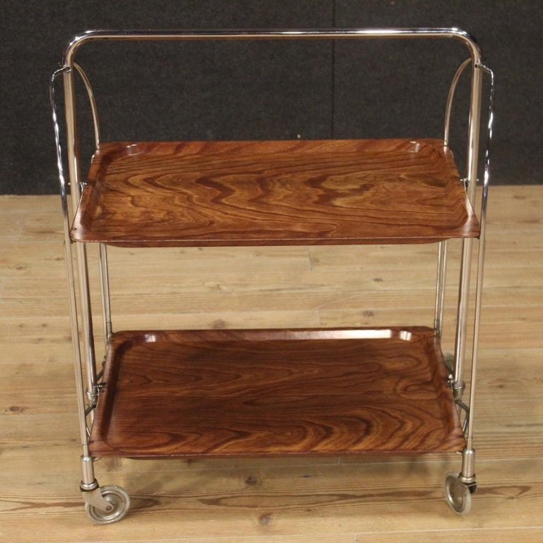 20th Century Metal and Plastic German Design Service Cart, 1970 In Good Condition For Sale In Vicoforte, Piedmont