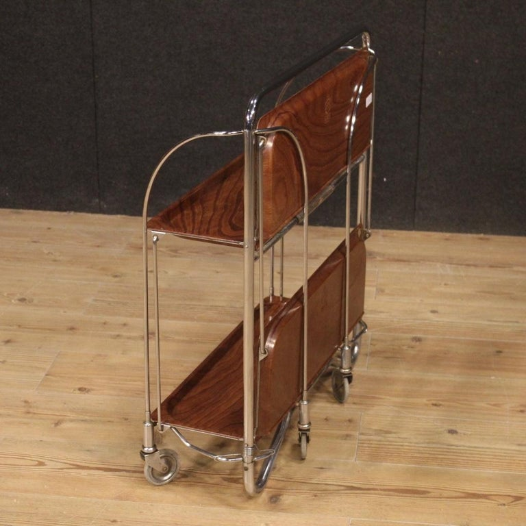 20th Century Metal and Plastic German Design Service Cart, 1970 For Sale 1
