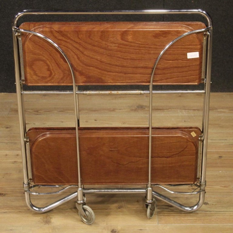 20th Century Metal and Plastic German Design Service Cart, 1970 For Sale 3