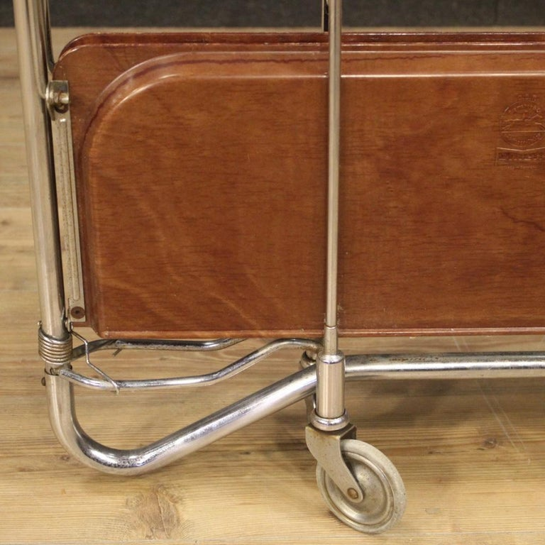 20th Century Metal and Plastic German Design Service Cart, 1970 For Sale 5
