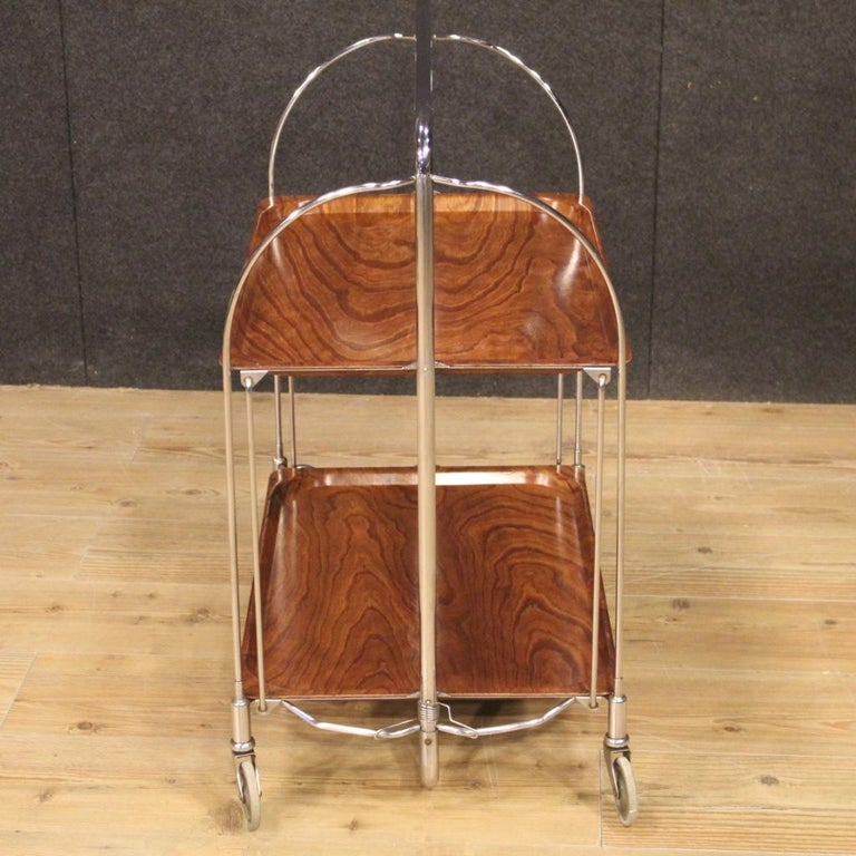 20th Century Metal and Plastic German Design Service Cart, 1970 For Sale 6