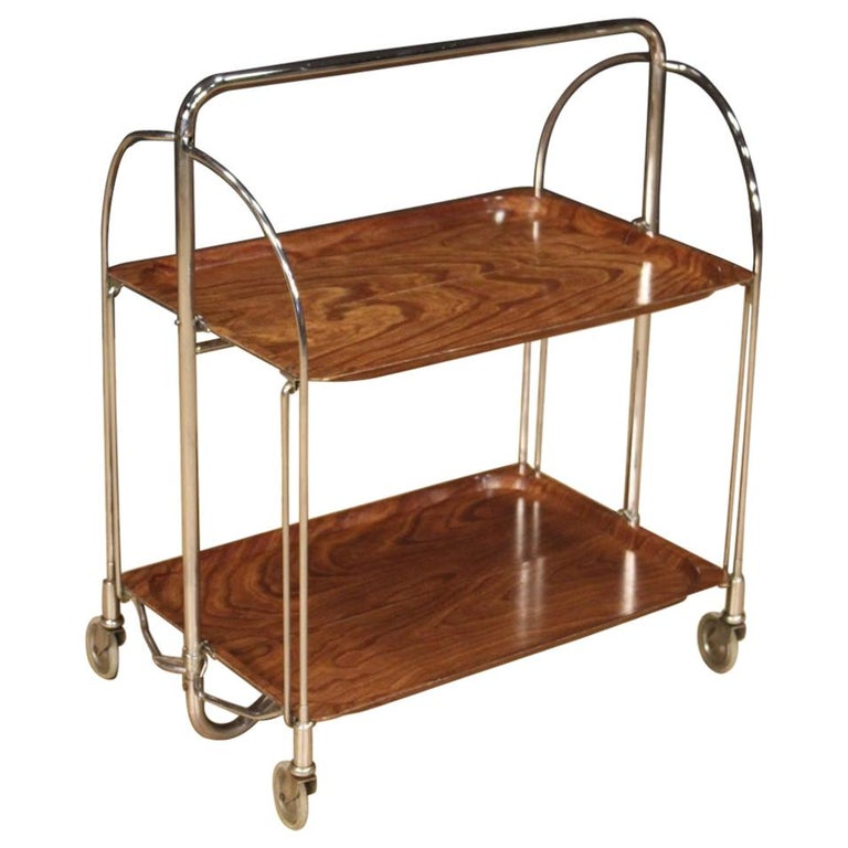 20th Century Metal and Plastic German Design Service Cart, 1970 For Sale
