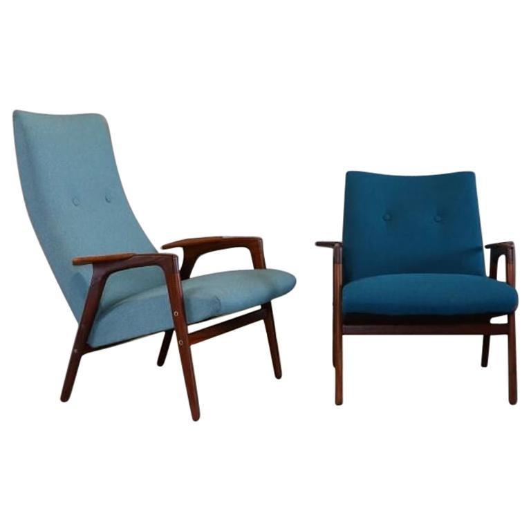 20th Century Midcentury Lounge Chairs by Yngve Ekström for Pastoe, 1960s
