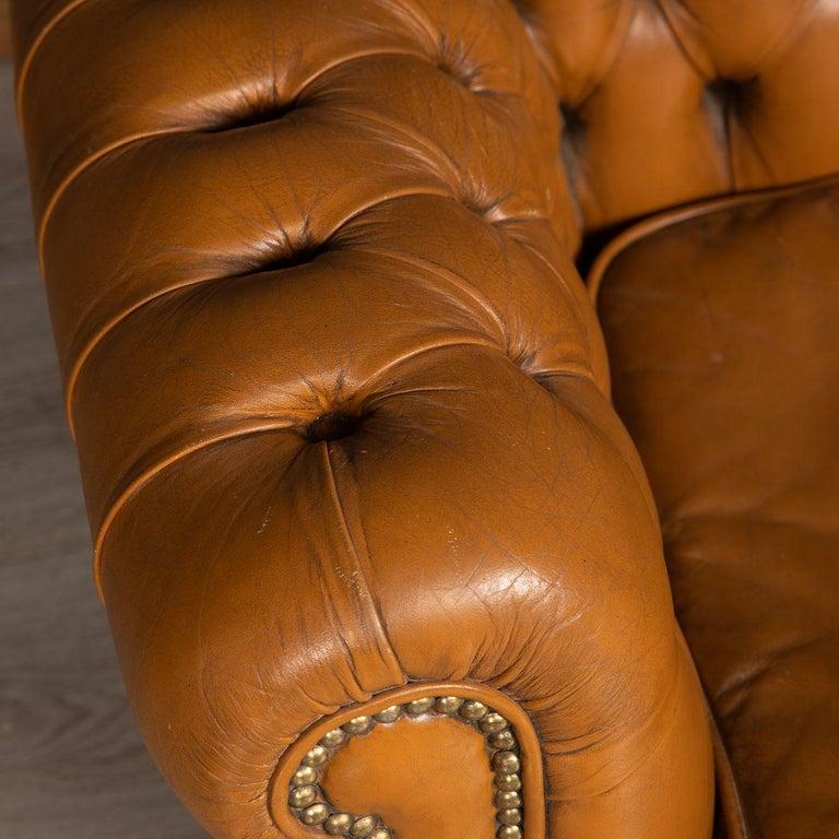 20th Century Miniature Chesterfield Leather Sofa, circa 1920 6