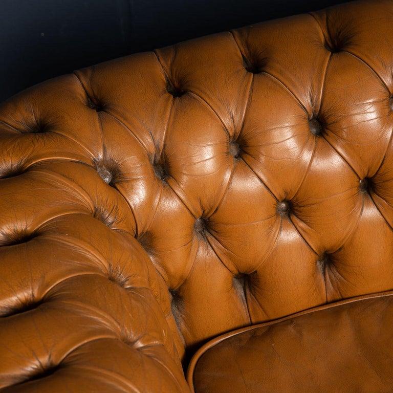 20th Century Miniature Chesterfield Leather Sofa, circa 1920 7