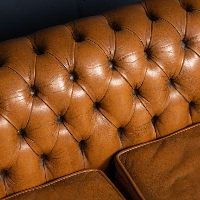 20th Century Miniature Chesterfield Leather Sofa, circa 1920 8