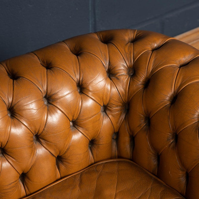 20th Century Miniature Chesterfield Leather Sofa, circa 1920 9