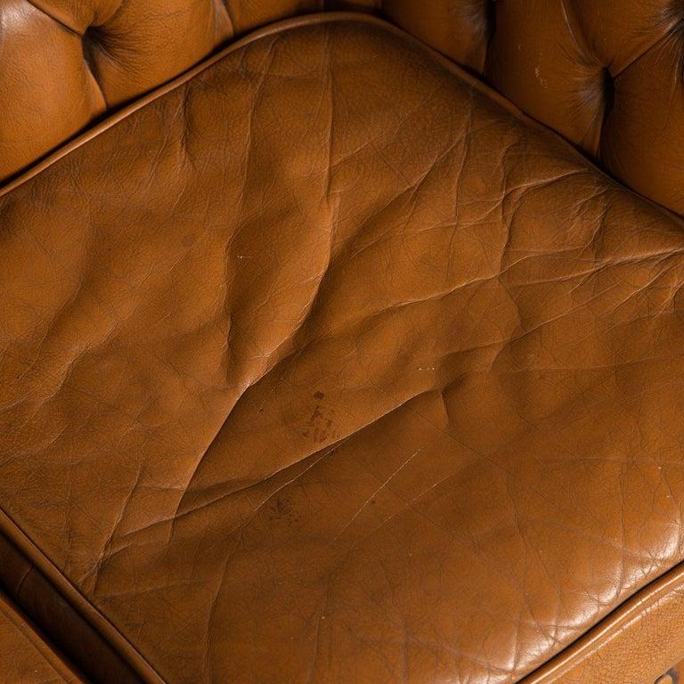 20th Century Miniature Chesterfield Leather Sofa, circa 1920 12