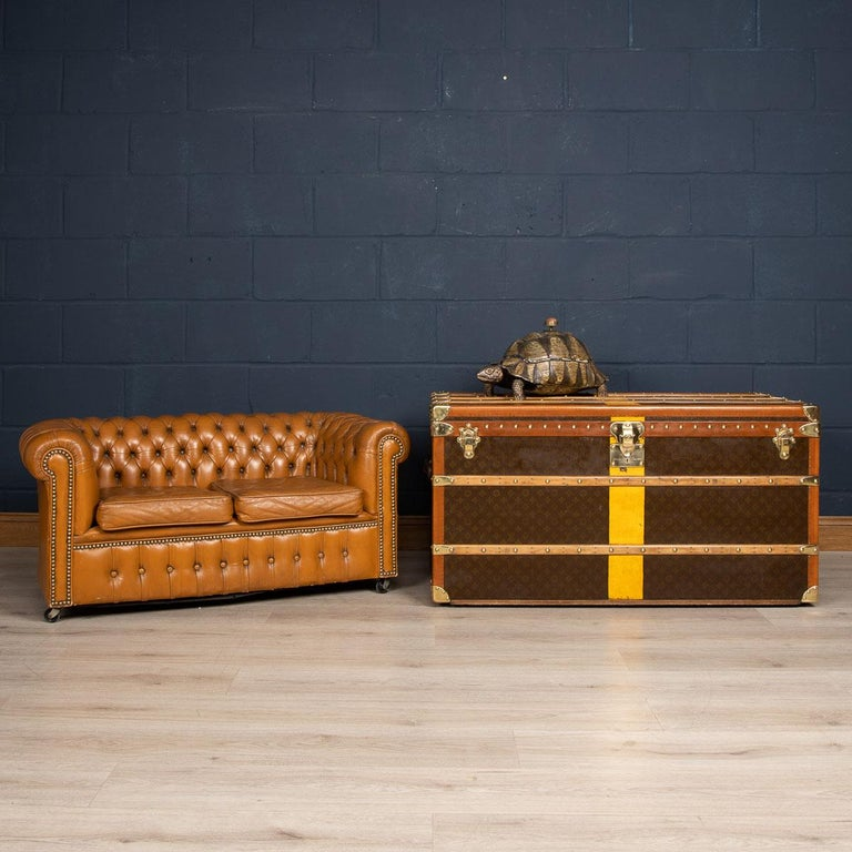 One of the rarest items of furniture ever to be seen: a miniature (or sample) leather Chesterfield sofa dating too early to mid-20th century. By far the majority of miniature furniture started life as a travelling salesman's sample. In essence they