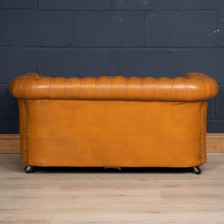 20th Century Miniature Chesterfield Leather Sofa, circa 1920 1