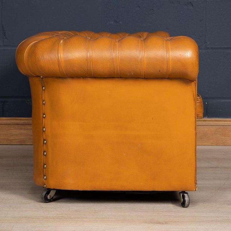 20th Century Miniature Chesterfield Leather Sofa, circa 1920 2
