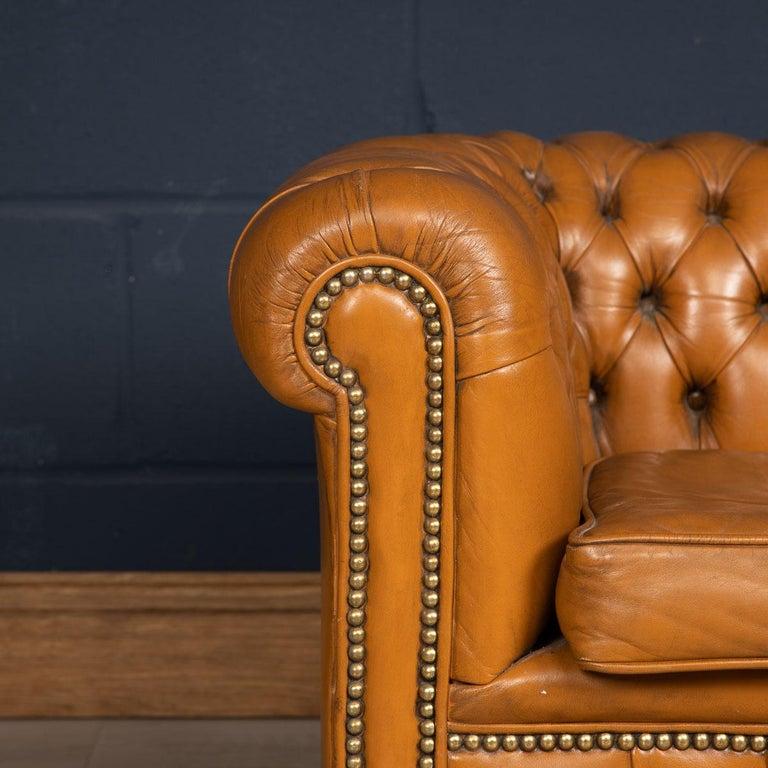 20th Century Miniature Chesterfield Leather Sofa, circa 1920 3