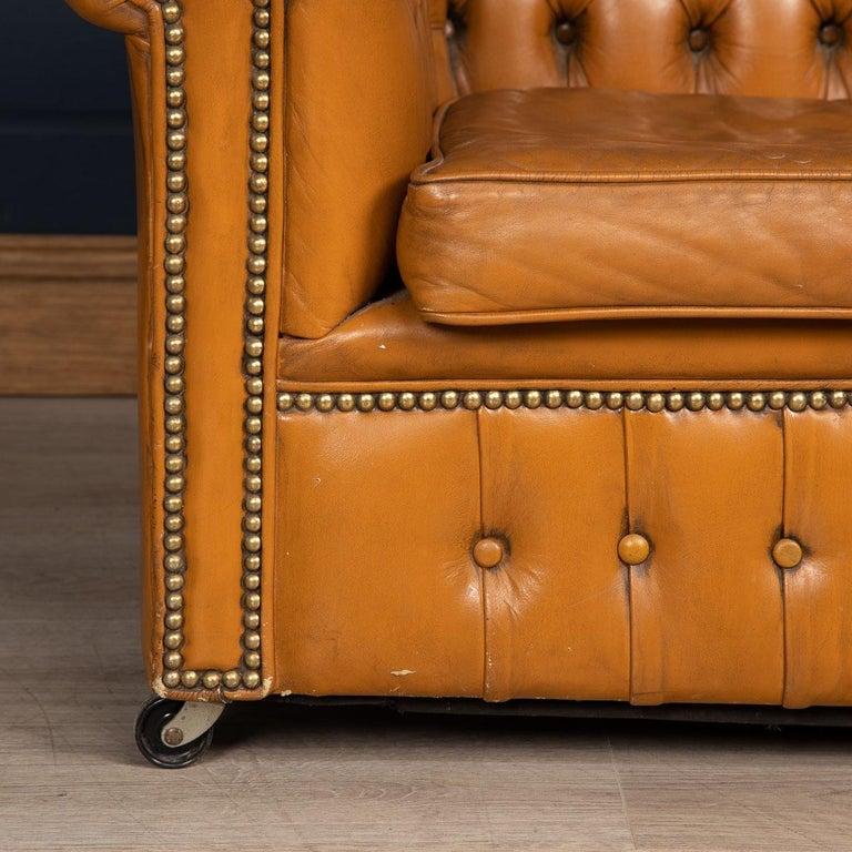 20th Century Miniature Chesterfield Leather Sofa, circa 1920 4