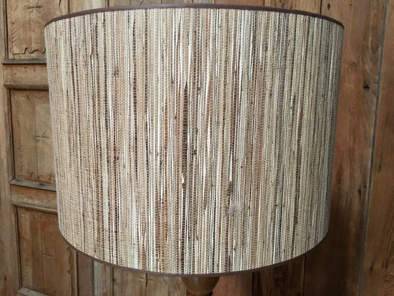 20th Century Modern Koa Wood Floor Lamp For Sale At 1stdibs