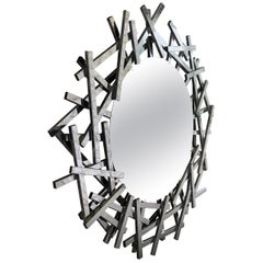 20th Century Modern Metal Mirror