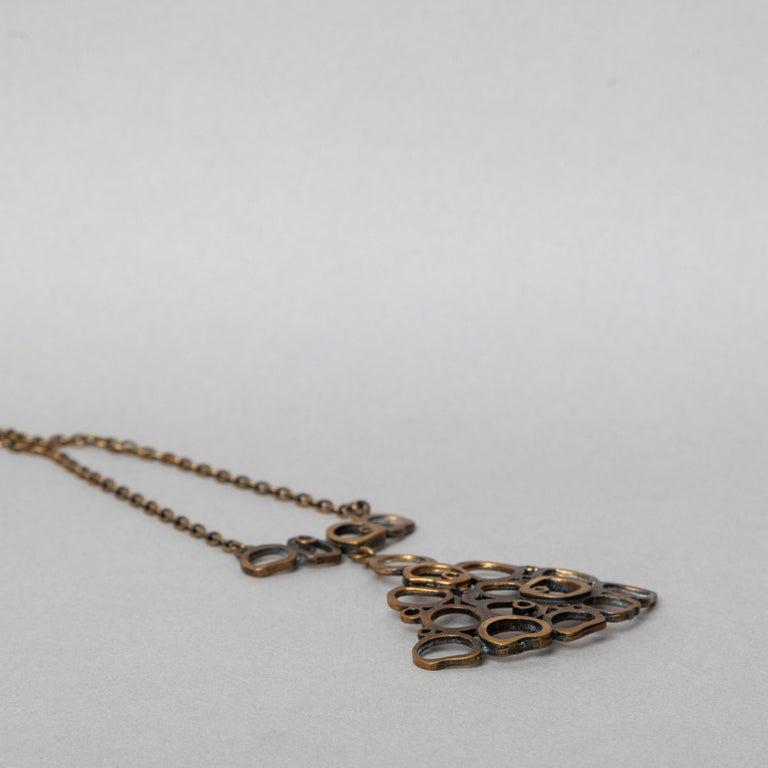 20th Century Modern Pentii Sarpaneva Pendant Necklace Bronze Scandinavian Modern In Good Condition For Sale In Oslo, NO