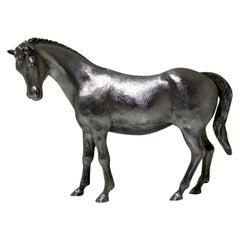20th Century Modern Sterling Silver Horse London, 1977 Charles Fox Ltd