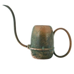 20th Century Modernist Copper Watering Can Industrial Plant Rustic Farmhouse