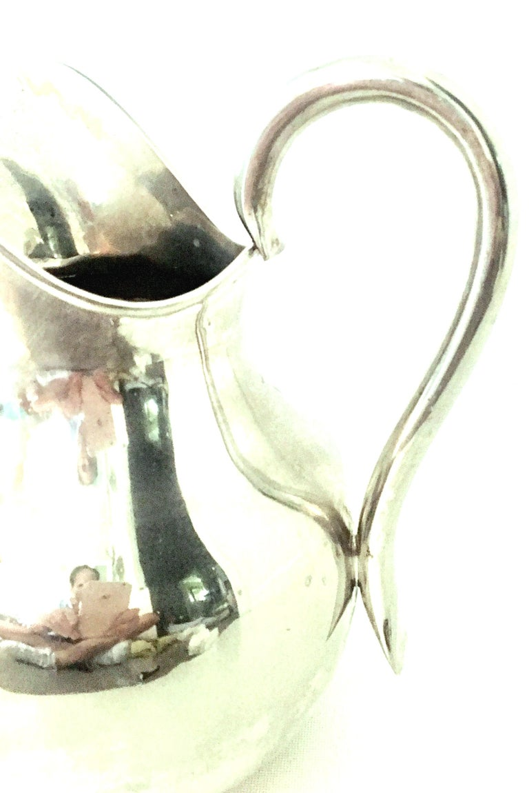 20th Century Modernist Mexican Silver Plate Pitcher-Signed For Sale 3