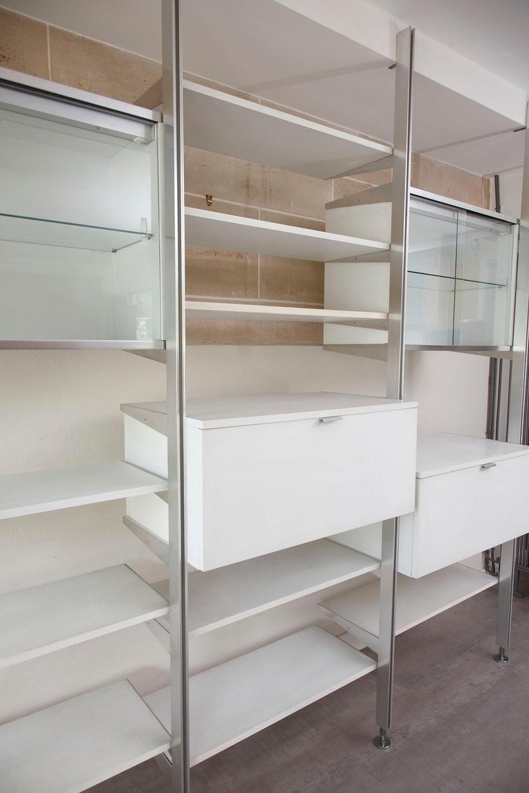 20th Century Modular Wall Unit in Mobilier International Style For Sale 4