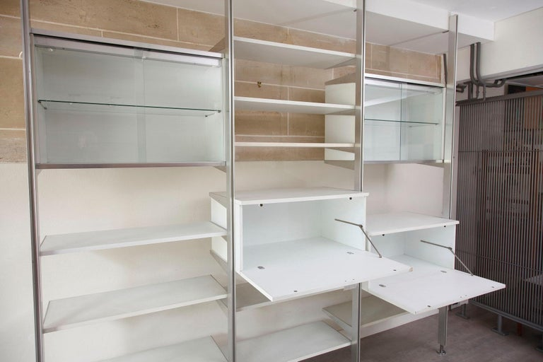 20th Century Modular Wall Unit in Mobilier International Style For Sale 5