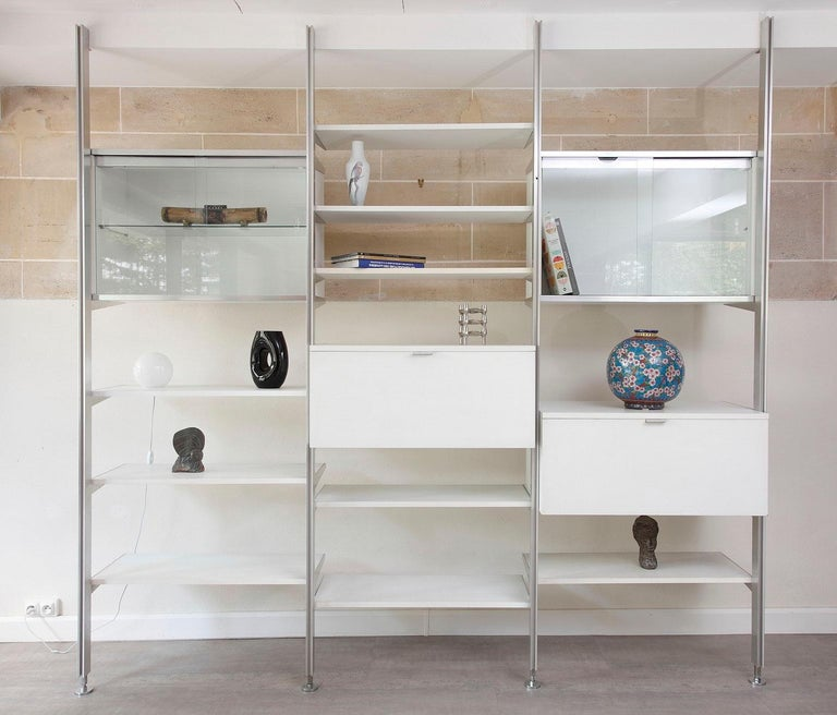 Mid-Century Modern 20th Century Modular Wall Unit in Mobilier International Style For Sale