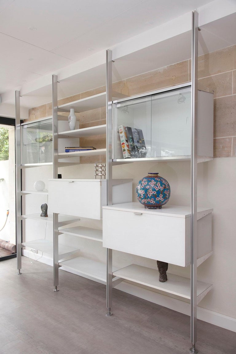 American 20th Century Modular Wall Unit in Mobilier International Style For Sale