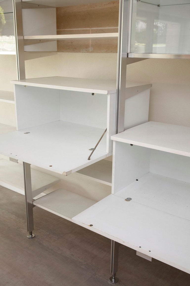 Wood 20th Century Modular Wall Unit in Mobilier International Style For Sale