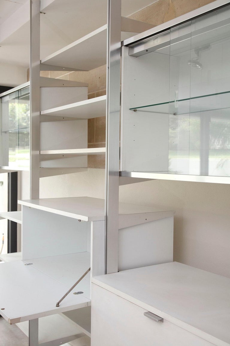 20th Century Modular Wall Unit in Mobilier International Style For Sale 1