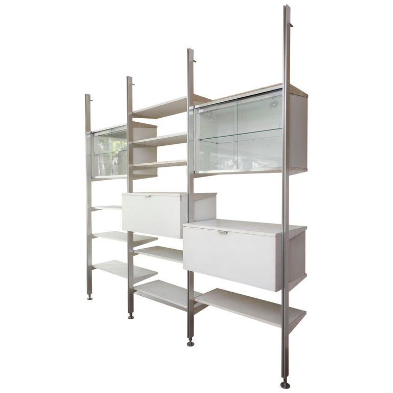20th Century Modular Wall Unit in Mobilier International Style For Sale