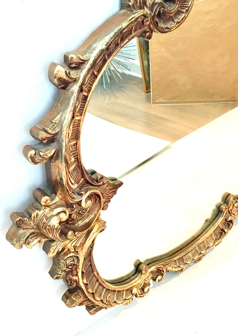 Paint 20th Century Monumental French Baroque Style Ornate Gold Gilt Mirror For Sale