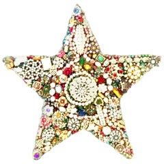 """20th Century Monumental Vintage Costume Jewelry """"Star"""" Hand Crafted Sculpture"""