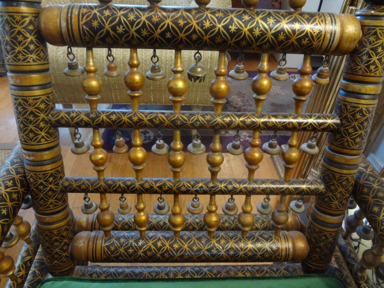 20th Century Moroccan Hand Decorated Chair For Sale 1