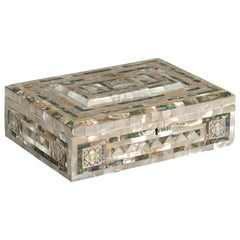20th Century Mother of Pearl Mosaic Jewelry Box