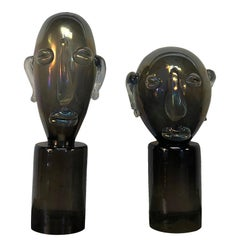20th Century Murano Glass Head Sculptures