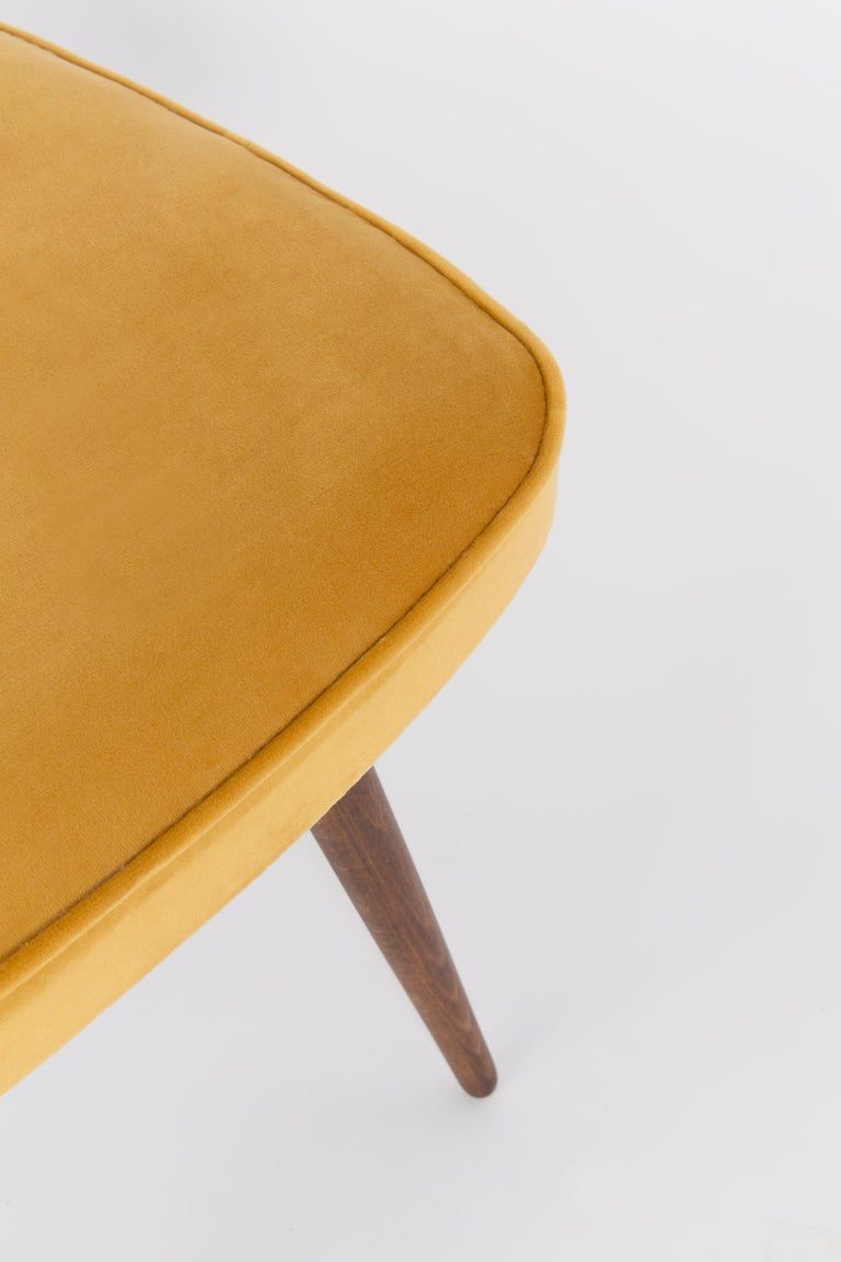 Hand-Crafted 20th Century Mustard Yellow Stool, 1960s For Sale