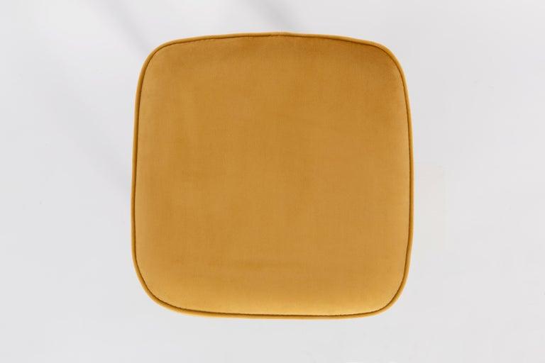 Velvet 20th Century Mustard Yellow Stool, 1960s For Sale