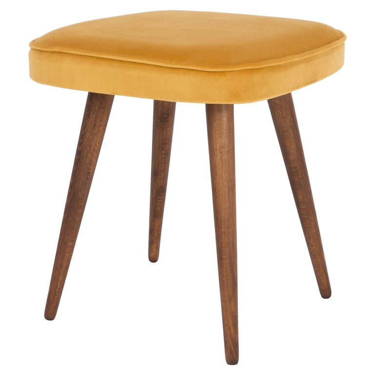 20th Century Mustard Yellow Stool, 1960s For Sale
