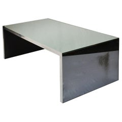 20th Century Nanda Vigo Four Corners Coffee Table for Driade in Mirrored Glass