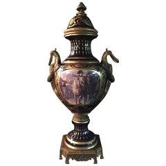 20th Century Napoleon Bonaparte Sèvre Pompe Lidded Vase