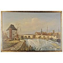 20th Century Naturalist Oil Painting Haldenthor in Aarau