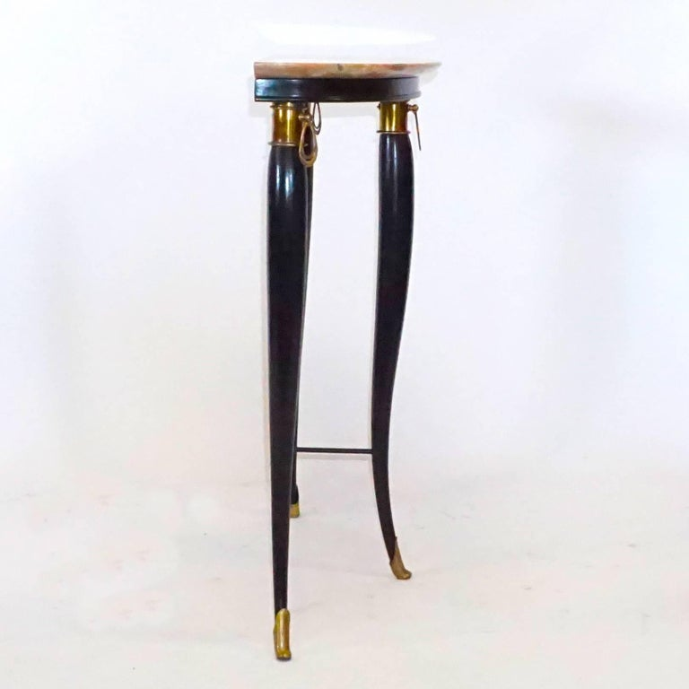 Metal 20th Century Neoclassical Demilune Console, Italian Side Table by Paolo Buffa For Sale
