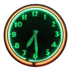 20th Century Neon Clock by Modern Clock Advertising