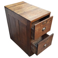 20th Century Oak Filing Cabinet