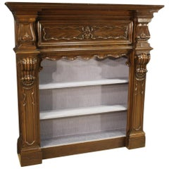 20th Century Oakwood French Baroque Style Bookcase, 1960