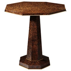 20th Century Octagonal Palm Wood Centre Table in the Art Deco Style