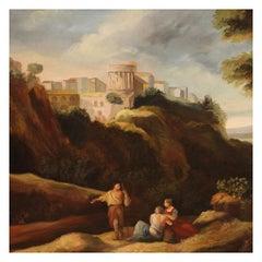 20th Century Oil on Canvas Italian Landscape Painting, 1970