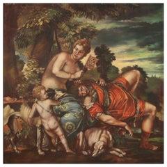 20th Century Oil on Canvas Italian Mythological Painting, 1960
