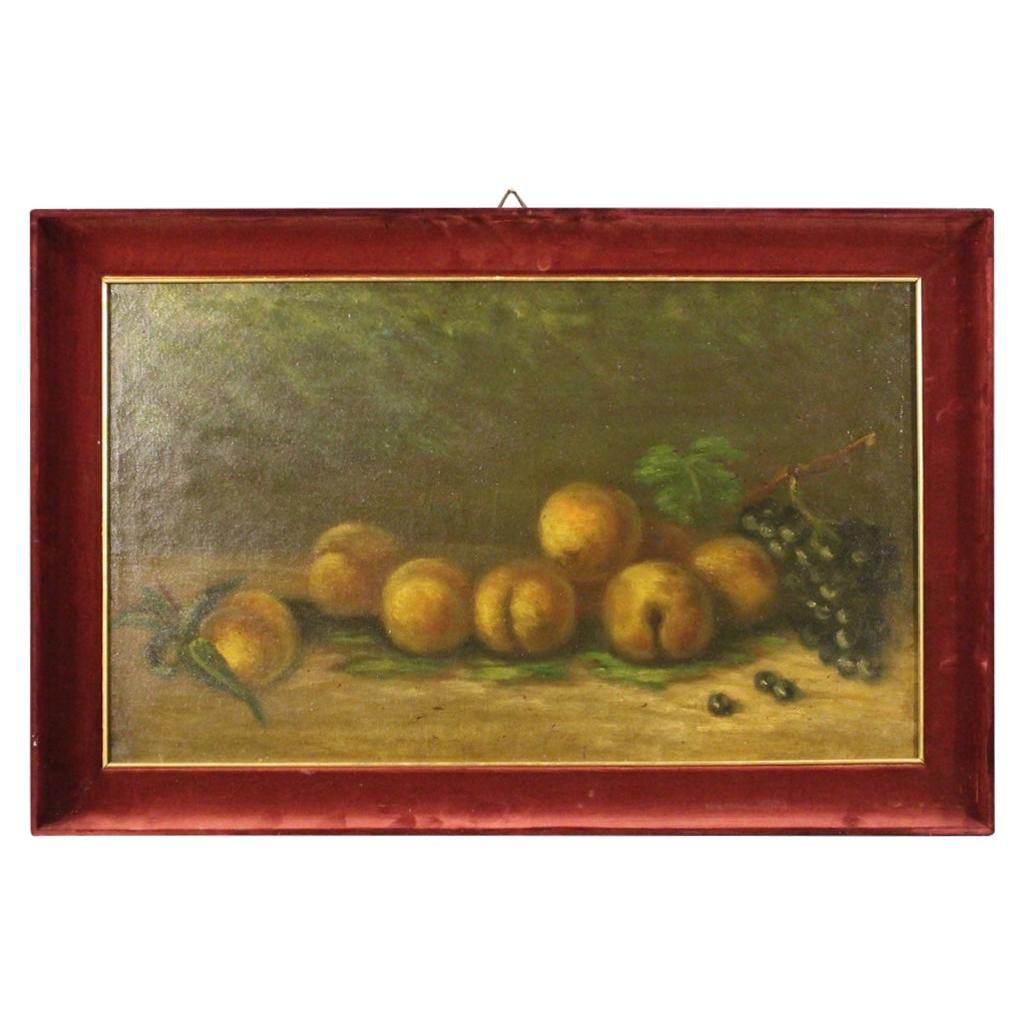 20th Century Oil on Canvas Italian Signed Still Life Painting, 1950