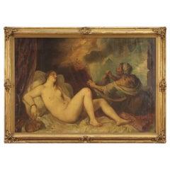 20th Century Oil on Canvas Mythological Italian Painting Danae, 1920